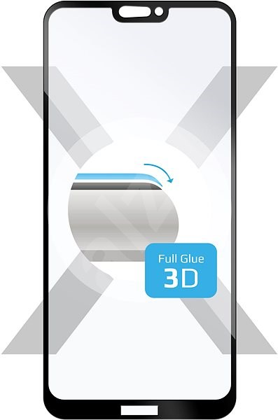 FIXED 3D Full-Cover for Huawei P20 Lite Black - Glass protector