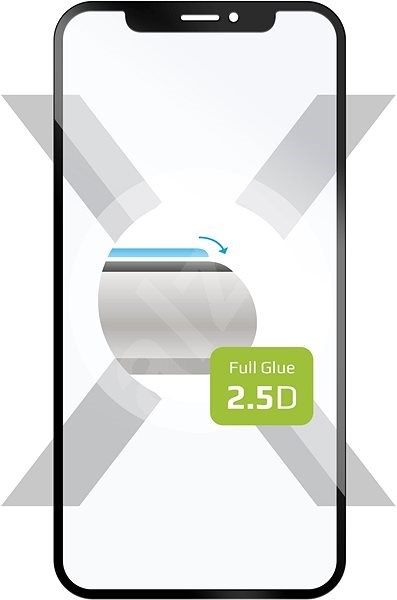 FIXED Full Glue-Cover for Huawei P20 Lite black - Glass protector