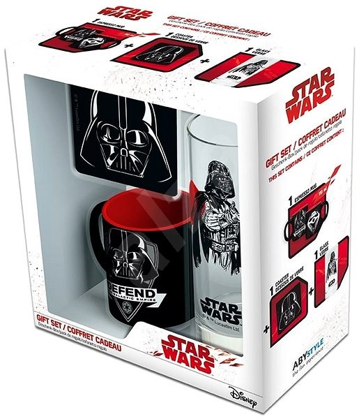 Star Wars Vader set - mug, tray, glass - Gift Set