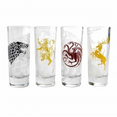 Game Of Thrones Shot Glasses (4x) - Glass for Cold Drinks