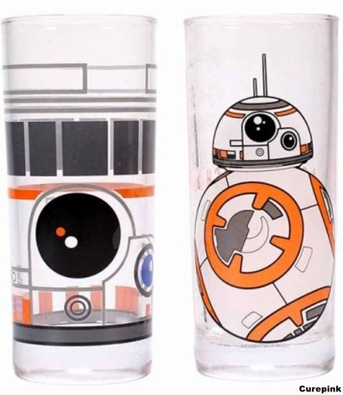 Star Wars BB-8 - 2x glasses - Glass for Cold Drinks