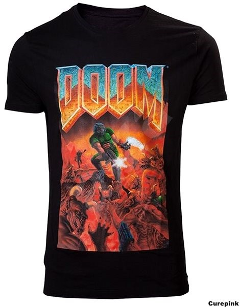 DOOM Classic Box Art - T-shirt L - T-Shirt