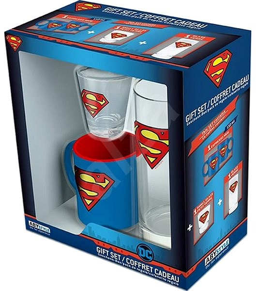 Superman set - mug, glass, dummy - Gift Set