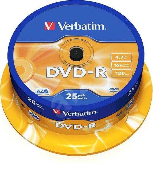 Verbatim DVD-R 16x, 25pcs cakebox - Media
