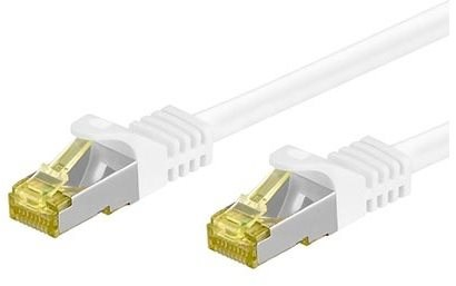 OEM S/FTP patch cable Cat 7, with RJ45 connectors, LSOH, 10m, white - Network Cable