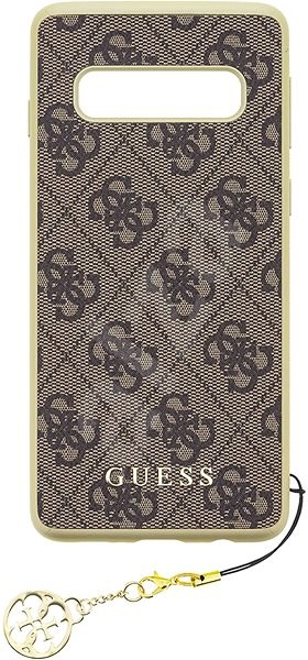 Guess Charms Hard Case 4G Brown pro Samsung G973 Galaxy S10 - Mobile Case