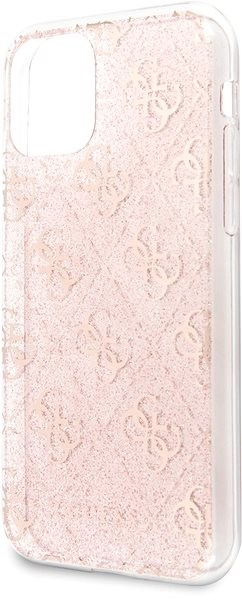 Guess 4G Glitter Back Cover for iPhone 11 Pro Max, Pink - Mobile Case
