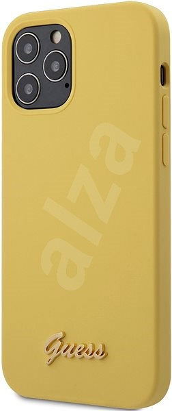 Guess Silicone Metal Logo For Apple Iphone 12 12 Pro Yellow Mobile Case Alzashop Com