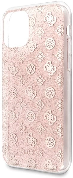 Guess 4G Peony Glitter for iPhone 11, Pink (EU Blister) - Mobile Case