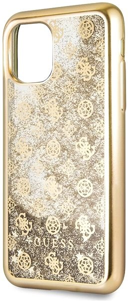 Guess 4G Peony Glitter for iPhone 11, Gold (EU Blister) - Mobile Case