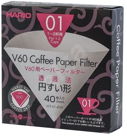 Hario paper filters V60-01 40pcs - Coffee filters