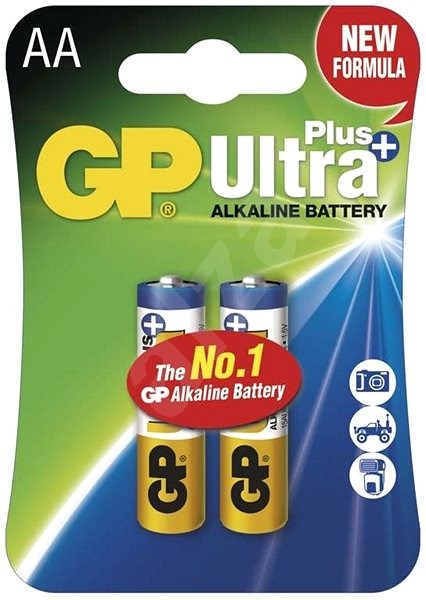GP Ultra Plus LR6 (AA) 2pcs in blister pack - Disposable batteries