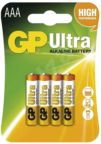 GP Ultra Alkaline LR03 (AAA) 4 pcs in blister pack - Disposable batteries