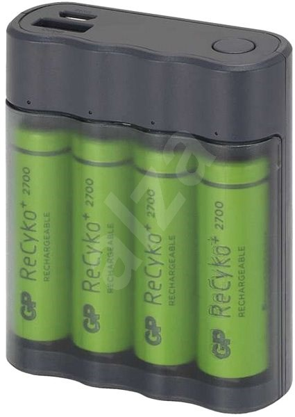GP Charge AnyWay 2-in-1 3400mAh grey - Battery Charger