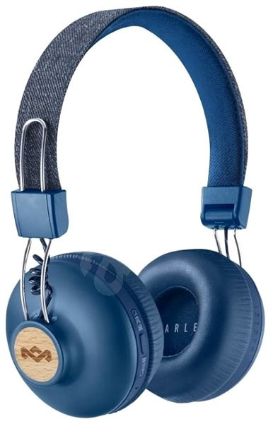 House of Marley Positive Vibration 2 wireless - denim - Headphones with Mic