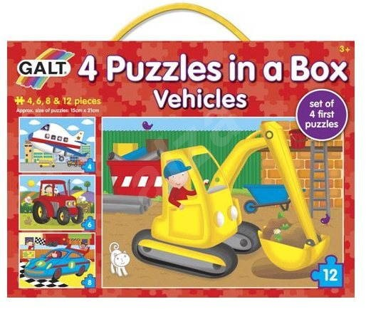 GALT 4 Puzzles in a Box - Vehicles - Puzzle