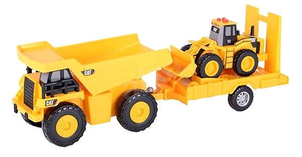 CAT- truck with trailer and excavator - Toy Vehicle