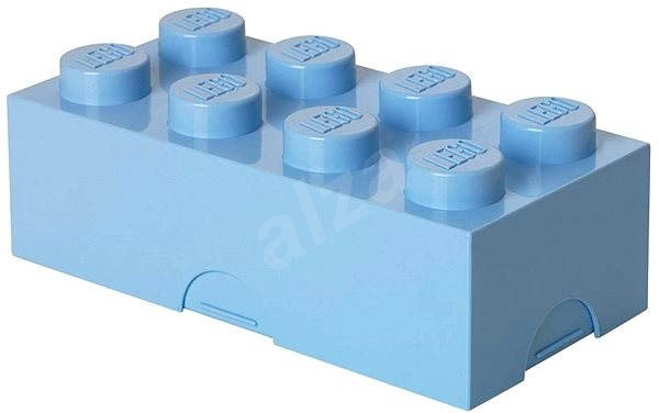 LEGO Lunch box 100 x 200 x 75 mm - light blue - Snack Box