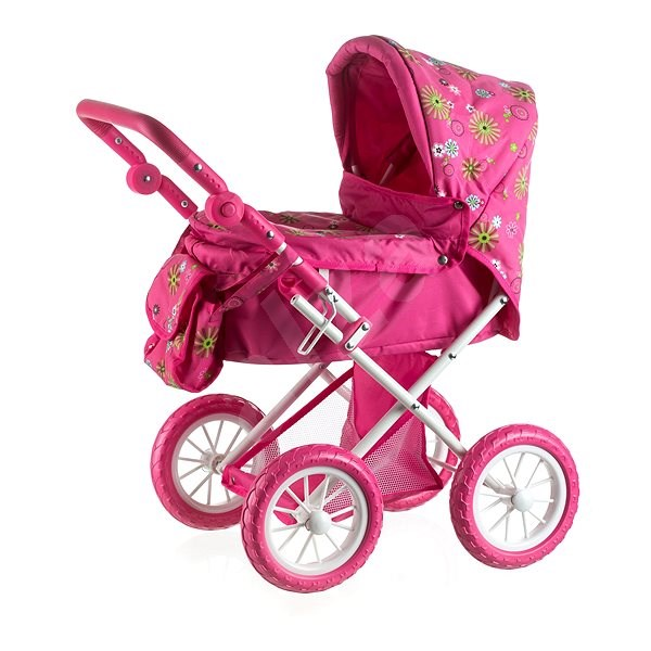 Baby Doll Stroller Plastic Tri-Color For Kids Creative And Imaginative Play