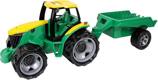 Lena Tractor plastic without a loader and an excavator, with a trailer - Toy Vehicle