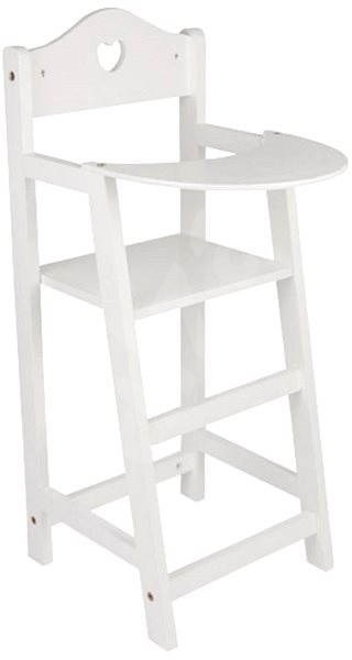 Wooden chair for dolls in white - Doll Accessory
