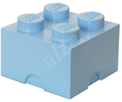 LEGO Storage Box 4 250 x 250 x 180mm - Light Blue - Storage Box