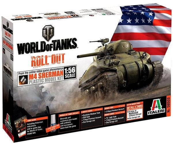 Italeri World of Tanks 56503 - M4 Sherman