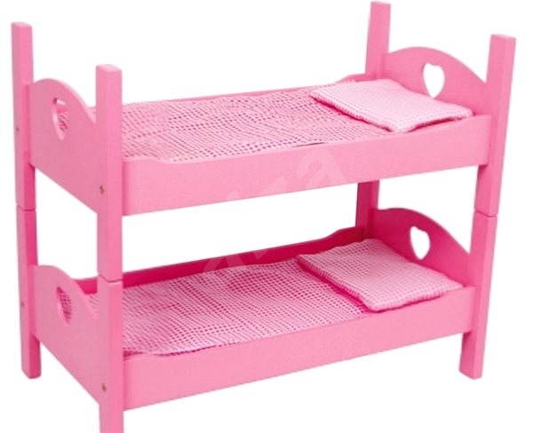 Wooden Toy Bunk Beds Pink Doll Accessory Alzashop Com