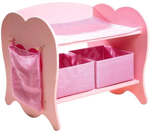 Wooden changing table for dolls - Doll Accessories