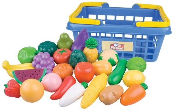 Redbox Shopping Basket with Fruits and Vegetables - Game set