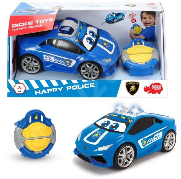 Dickie IRC Happy Police - RC Remote Control Car