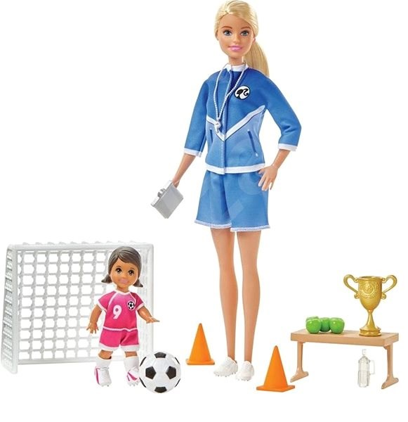 Barbie Football Trainer with Doll Game Set Blonde - Doll
