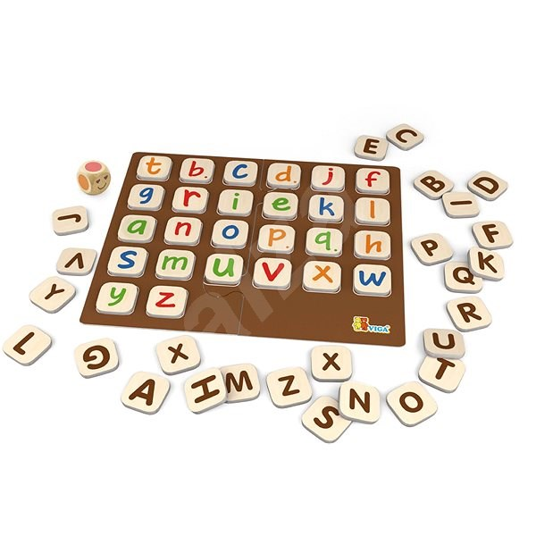Wooden game - alphabet - Educational Toy