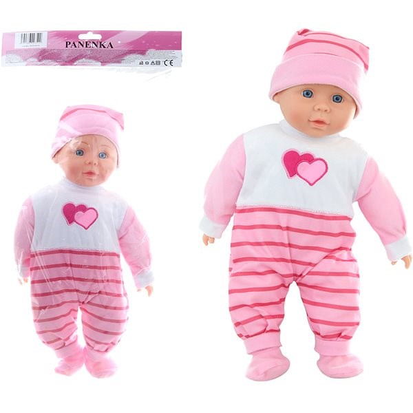 Baby girl with sound - hearts - Doll