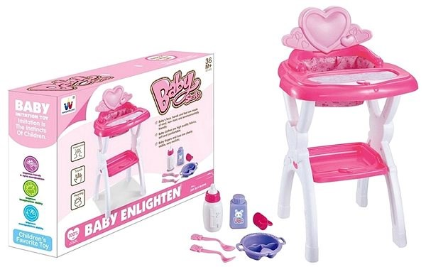 Chair for dolls, with accessories - Toy