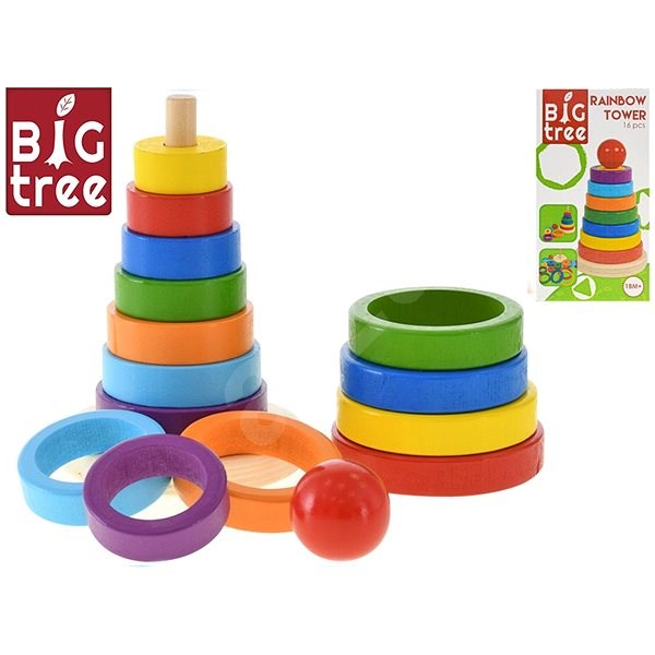Pyramid of rings - Wooden Toy