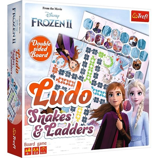 Trefl Game Ice Kingdom II 2in1: Man, don't be angry and Snakes and Ladders - Board Game
