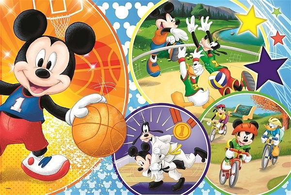 Trefl Puzzle Mickey Mouse sports MAXI 24 pieces - Puzzle