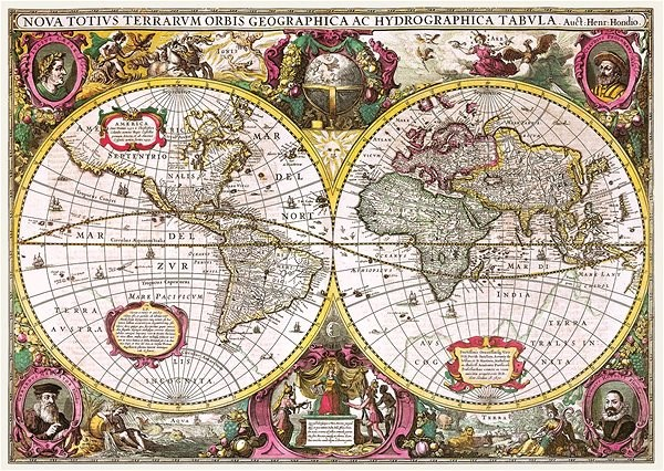 Trefl Puzzle Historical map of the world in 1630, 2000 pieces - Puzzle