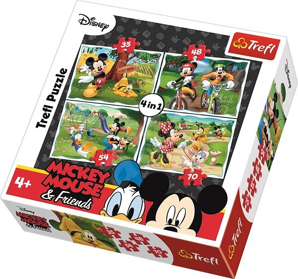 Trefl Puzzle Mickey Mouse and friends in the park 4in1 (35,48,54,70 pieces) - Puzzle