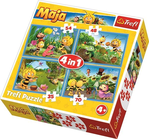 Trefl Puzzle May Bee 4in1 (35,48,54,70 pieces) - Puzzle