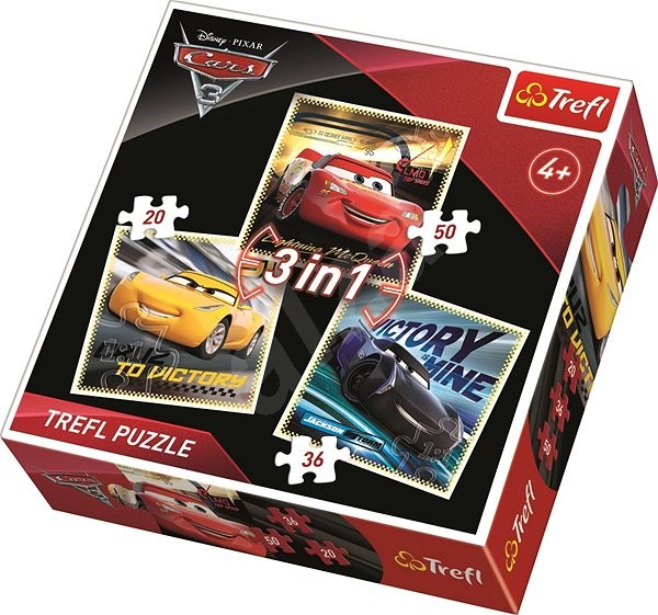 Trefl Puzzle Cars 3: Racers 3in1 (20,36,50 pieces) - Puzzle