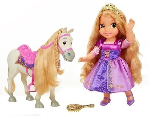 New Princess Rapunzel and Maximus - Doll