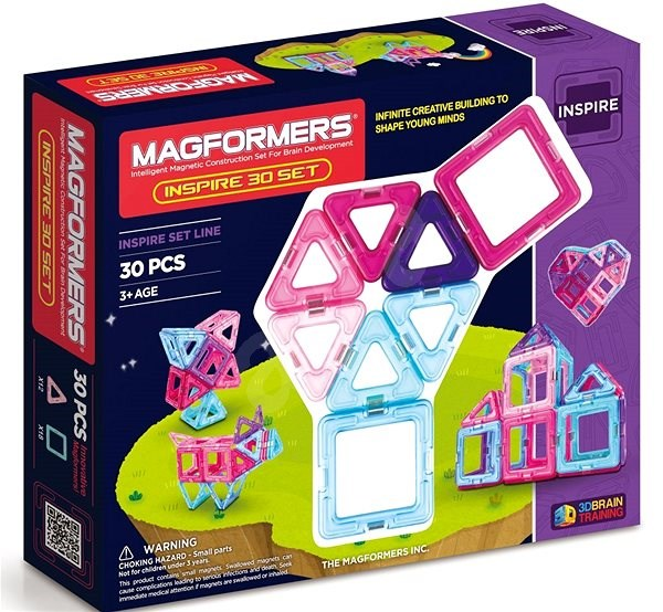 Magformers Pastelle 30 - Magnetic Building Set