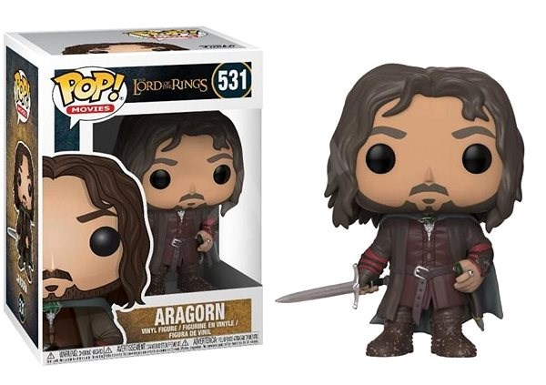 Funko Pop Movies: LOTR/Hobbit - Aragorn - Figurine