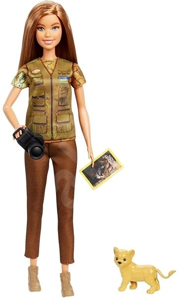 Barbie Occupation National Geographic Photojournalist (with Lion Cub) - Doll Accessory