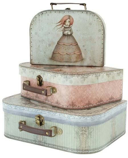 Mirabelle Nesting Suitcase Set - Small Carrying Case