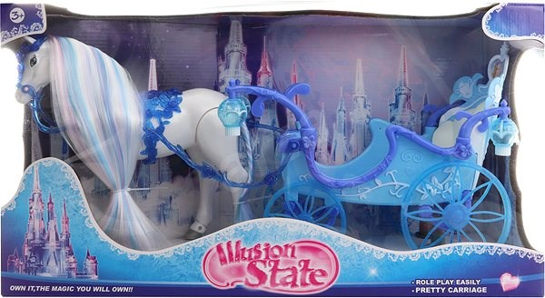 Illusion State Princess Horse & Carriage Playset - Set