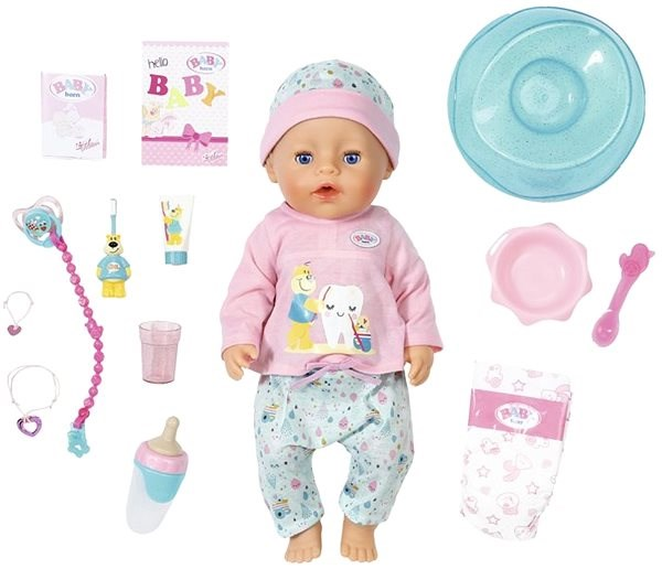 Baby Born Bath Soft Touch Baby Girl With Toothbrush Accessories Doll Alzashop Com