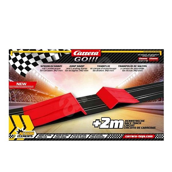 Carrera GO/GO+/D143 - 71599 GO!!! Action Pack Jump Ramp and Landing Ramp - Slot Cart Track Accessory